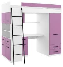 hochbett level l etagenbett schlafzimmer sets schreibtisch kleiderschrank regal weiß lavendel