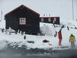 100 Antarctica House Posting A Postcard From At Port Lockroy