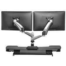 Kangaroo Standing Desk Dual Monitor by Standing Desk Dual Monitor Kangaroo Desktop Riser Solutions 12