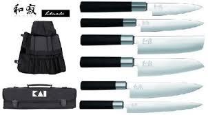 malette couteaux de cuisine professionnel mallette de 6 couteaux japonais wasabi black