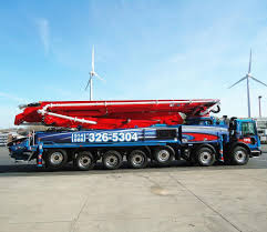 100 Concrete Pump Truck Rental Pompe Boom Putzmeister BSF56M 16H For Rent TPG Ing