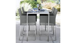 Crate And Barrel Dining Room Chairs by Dune Tall Taupe Painted Glass Dining Table Crate And Barrel