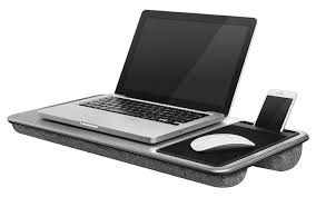 Amazon LapGear Home fice Lap Desk Silver Carbon Fits up