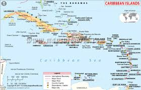 Political Map Of Caribbean Islands