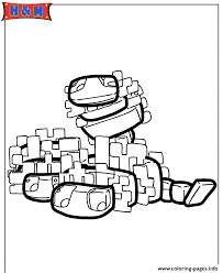 Minecraft Silverfish Coloring Page