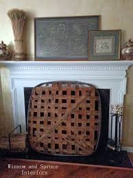 Primitive Decorating Ideas For Fireplace by Best 25 Tobacco Basket Decor Ideas On Pinterest Farmhouse