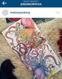 Lovely Coloring Of The Octopus Spread From Animorphia By Mettesauerberg Via Instagram Get