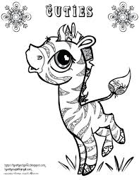 Cute Baby Zebra Coloring Pages Free Pictures