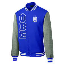 Phi Beta Sigma Varsity Greek Fleece Jacket Letters Greek Apparel