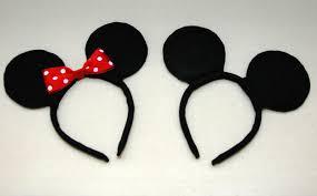 Mickey And Minnie Bathroom Accessories by One Creative Housewife Diy Mickey U0026 Minnie Mouse Ears