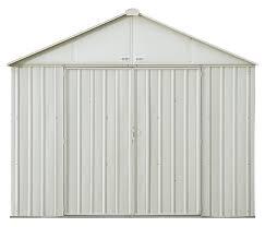 arrow galvanized steel storage shed 10x8 arrow ezee steel storage shed 8 x 7 ft galvanized high gable