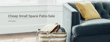 How To Create Best For Wayfair 's Small Space Patio-Sale ... Fniture Charming Cool Martha Stewart Patio With Cushions Hampton Bay Covers Classic Accsories Veranda Loveseat Storage Cover Loveseats 70982mslc For How To Create Best Wayfair S Small Space Patiosale Washed Blue Replacement Cushion For The Living Charlottetown Outdoor Chair Cove Chairs Clearance Depot Target Porch Lowes Sets Home Cos Ideas Set Annabelle Wingback