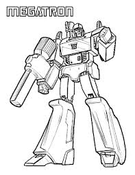 Megatron Coloring Pages Printable Transformers