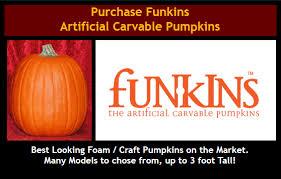 Fake Carvable Foam Pumpkins by Stoneykins Pumpkin Carving Patterns And Stencils