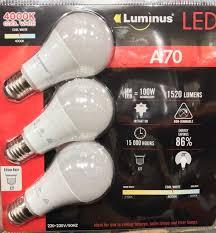 3 x luminus edison e27 14w led light bulb 1520 lumens 100w