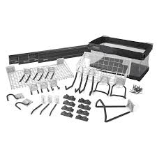Lowes Canada Outdoor Christmas Decorations by Kobalt 32 Piece K Rail And Hook Wall Storage Kit Lowe U0027s Canada