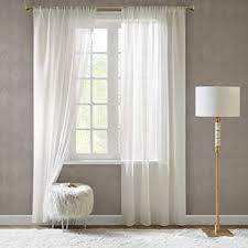 scm gardinen schals in leinen optik leinenstruktur vorhänge schlafzimmer transparent vorhang für kleine fenster doris white kurz 2er set je