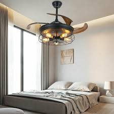 36 vintage deckenventilator mit beleuchtung und fernbedienung fan licht e27 decken ventilator le luft kühler dimmbar industrial fan