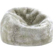 Top Ivory Polar Bear Faux Fur Beanbag Pbteen Within White Bean Bag Chair
