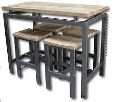 table haute cuisine table haute 4 tabourets à acheter industrial
