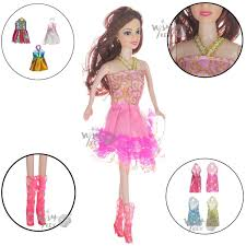 Buy Baby Doll With Dresses And Accessories For Girls By Wishkey