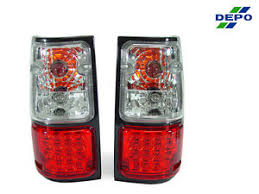 usa depo 91 97 isuzu rodeo red clear led tail lights lamps ebay
