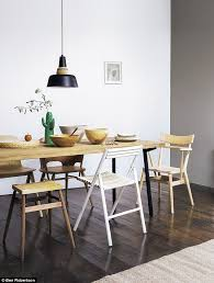 DINING TABLE GBP1399 Heals PENDANT LIGHT GBP125 Rockett St George STOOL GBP275 And BEE