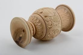 deko vase handmade wohnzimmer deko holz vase tisch deko geschnitzt originell