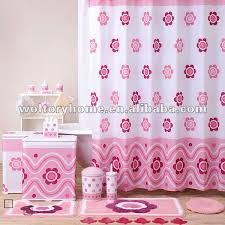 rosa blume bad produkte bad set kindliche hübsche dusch vorhang bad boden tür matte set bad set buy bad produkte badeset rosa blume bad produkte