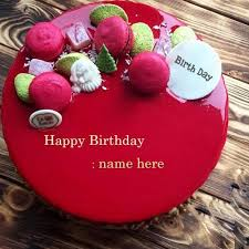 Red Velvet Birthday Cake Wishes With Name