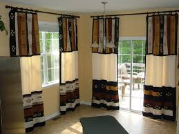 Kitchen Curtain Ideas For Large Windows by Charming Bedroom Curtains With Over Blinds Also Large White Window