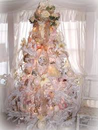 All Stacked White X Mas Tree With Adorable Decoration