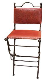 Iron And Leather Bar Stool #mexicanfurniture | Leather Bar ...