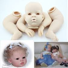Inch Handmade Diy Reborn Kits Silicone Head Full Limb Mold Awake Jpg 1200x1200 Silicone Unpainted Baby Reborn Baby Dolls By Laura Lee Eagles