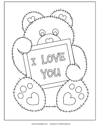 I Love You Coloring Page Printable