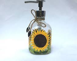 Mercury Glass Bathroom Accessories by Glass Soap Dispenser Etsy