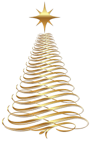 Gold Christmas Tree Clipart 1