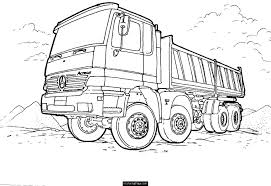 Mercedes-dump-truck-printable-coloring-page | * Coloring Pages ...