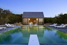 Small Backyard Decorating Ideas by Outdoors Perfect Pool House Design With Large Pool And White