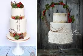 Christmas Woodland Wedding Cakes By Karen Keaney Of Roses Bows Cakery Left And Hazel Wong