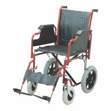 folding wheel chair detachable armrest footrest with small wheels