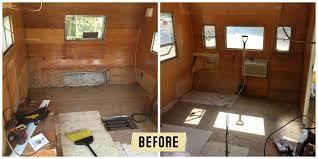 Image Of Redoing Vintage Camper Remodel Ideas