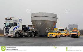 100 Truck Stop Loads Convoy Of Wide Load Transport At Editorial Photography