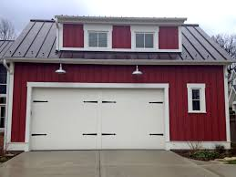 Exterior: Front Garage Landscaping Design Ideas (#3 Of 9 Photos) Gooseneck Barn Light Lights Home Depot Shop Outdoor Wall At Lowescom Dusk Till Dawn Fixtures Lighting Designs Sconce Lends Farmhouse Look To Powder Room Remake Blog B2362cr Troy Liberty 1 Medium Photo Gallery Exterior Garage Pole Crustpizza Decor Led For Barns With Youtube And Galvanized Goes With Garages Serenaarmstrong 3 Garages Lamp Design Top In
