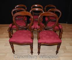Set 8 Mahogany Victorian Balloon Back Dining Chairs ... Antique Victorian Ref No 03505 Regent Antiques Set Of Ten Mahogany Balloon Back Ding Chairs 6 Walnut Eight 62 Style Ebay Finely Carved Quality Four C1845 Reproduction Balloon Back Ding Chairs Fiddleback Style Table And In Traditional Living Living Room Upholstery 8 Upholstered Lloonback Antique French