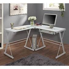 glass and metal corner computer desk from walmart furniture