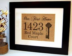 Our First Home Personalized Housewarming Gift By BusyBeeBurlap