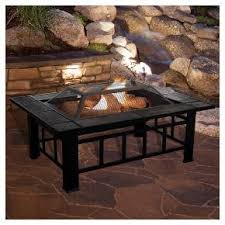 this 37 inch rectangular pit with ceramic tile top from