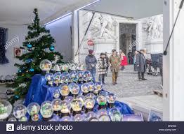 Ornaments Stand At A Christmas Market In Michaelerplatz Hofburg Quarter Vienna Austria