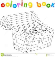 Livre De Coloriage De Coffre Au Trésor Pour Des Enfants Illustration